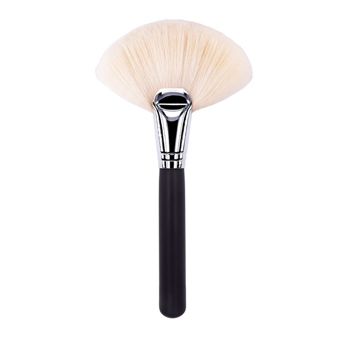 ZGF Goat Hair Large Fan Powder Brush, private label makeup brushes, private label makeup brush manufacturer